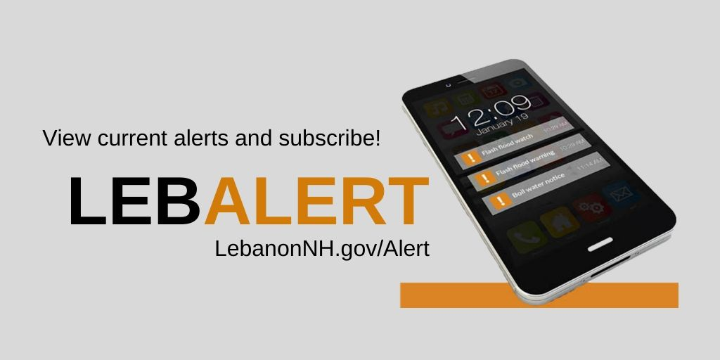 LebAlert logo with mobile phone displaying alerts