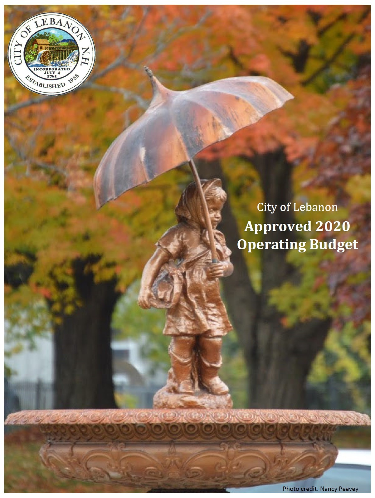 2020 City of Lebanon Budget Cover Page