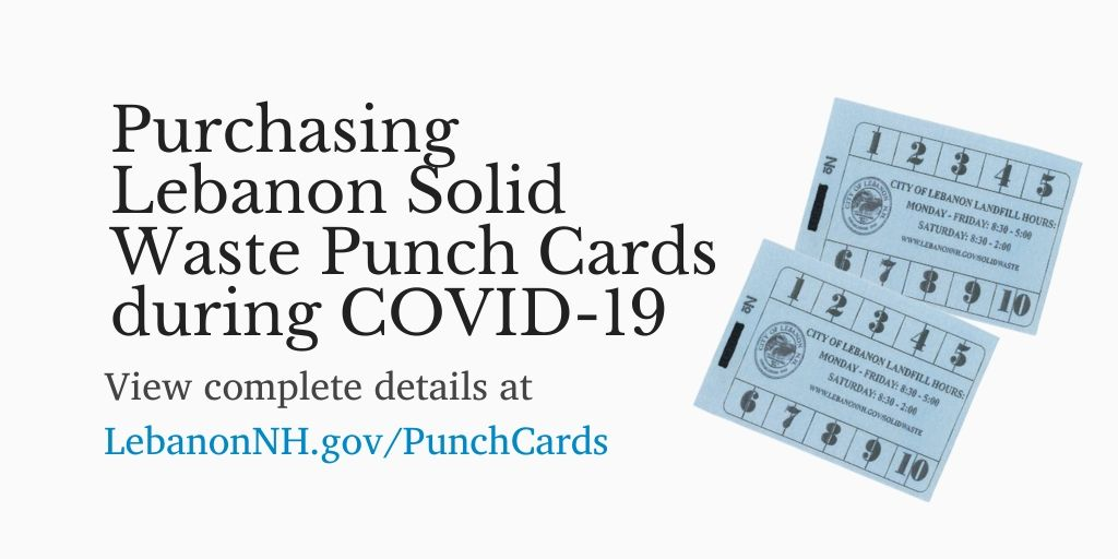 Purchasing Lebanon Solid Waste Punch Cards during COVID-19