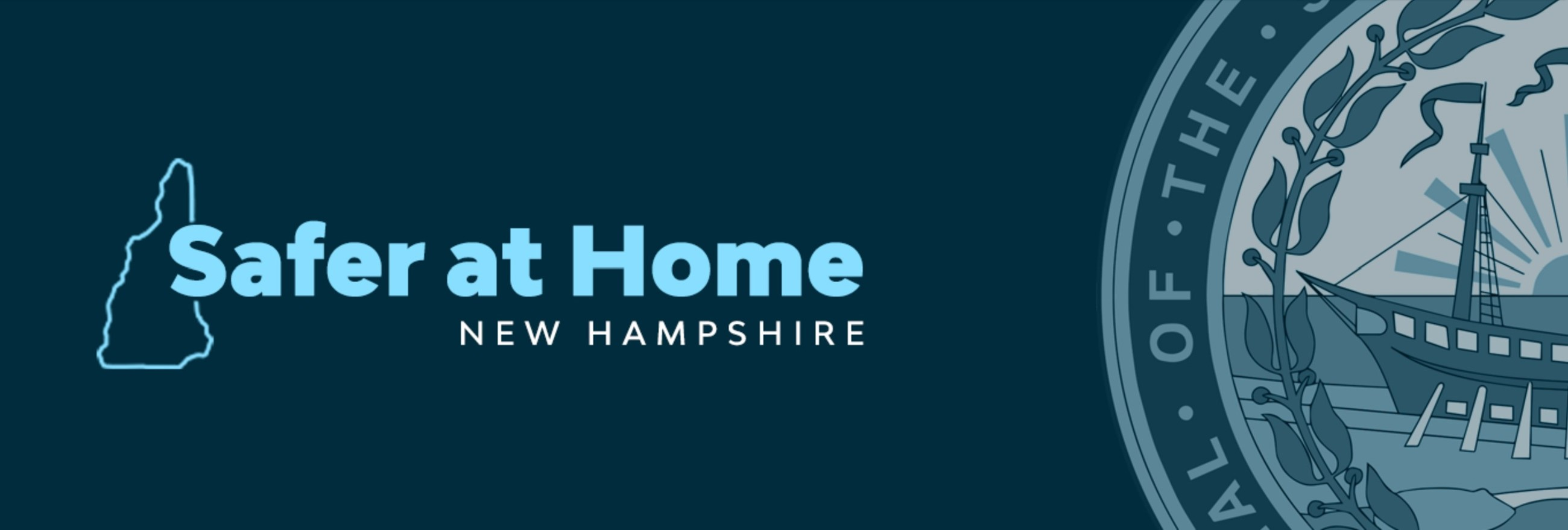 Safer at Home New Hampshire logo