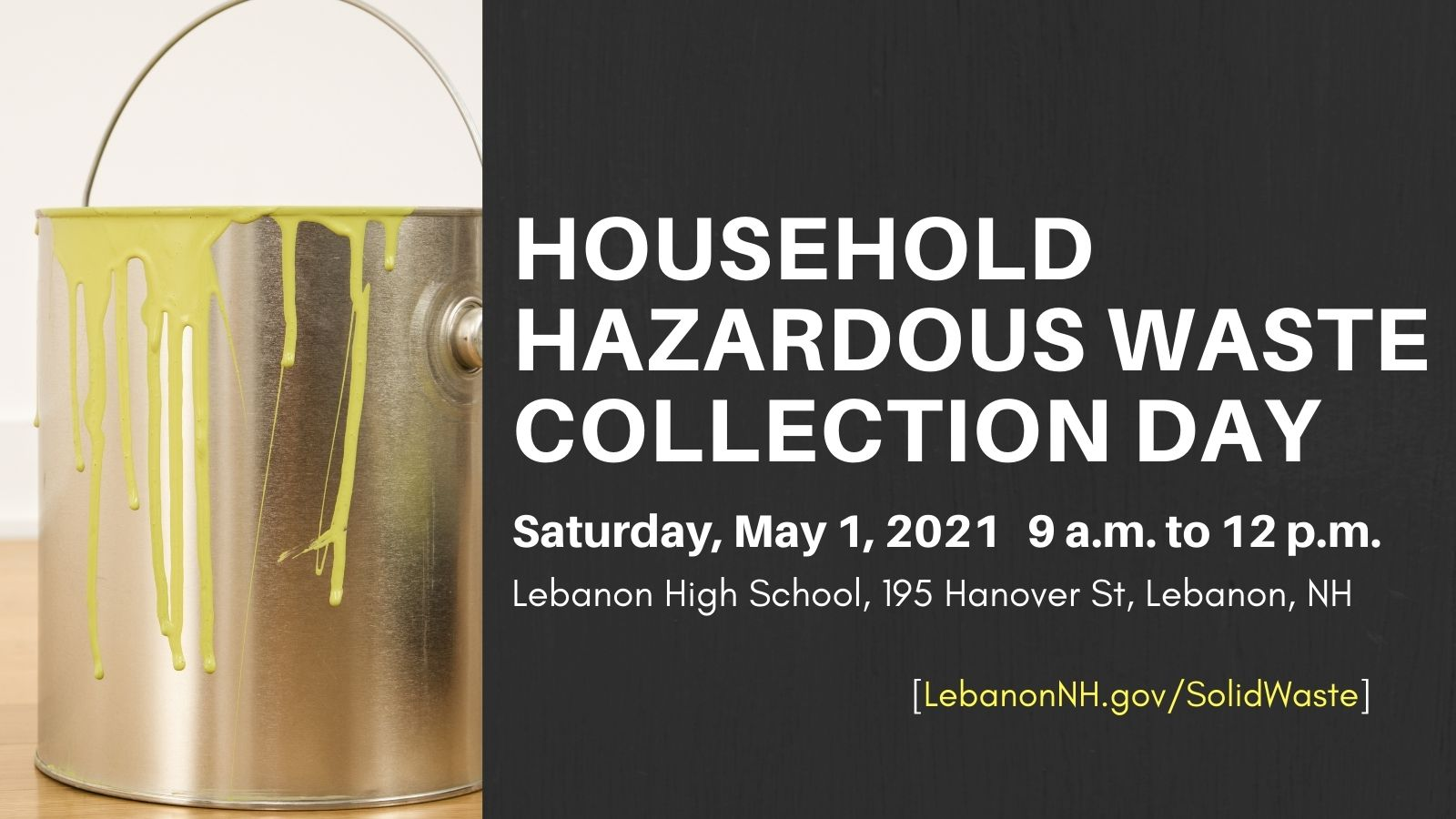 Hazardous Waste Collection Day October 3 from 9am to noon promotional ad