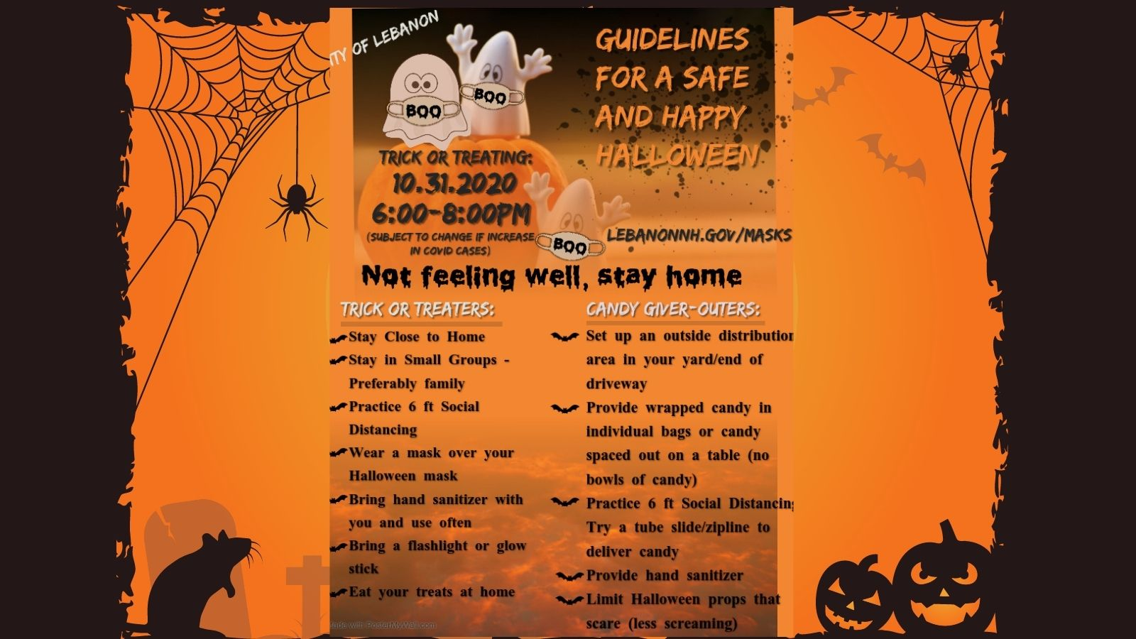 Halloween guidelines poster image
