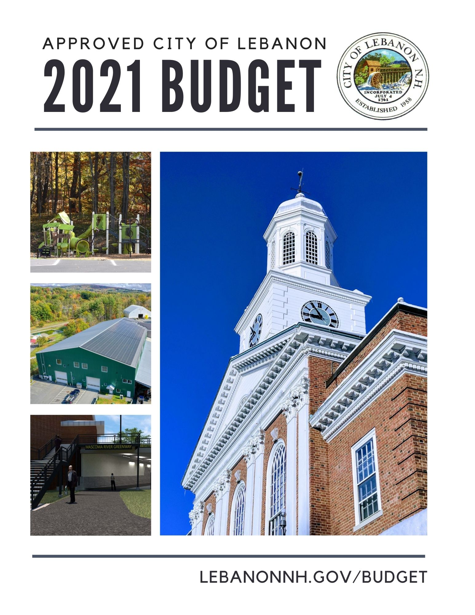 2021 Proposed City of Lebanon Budget cover