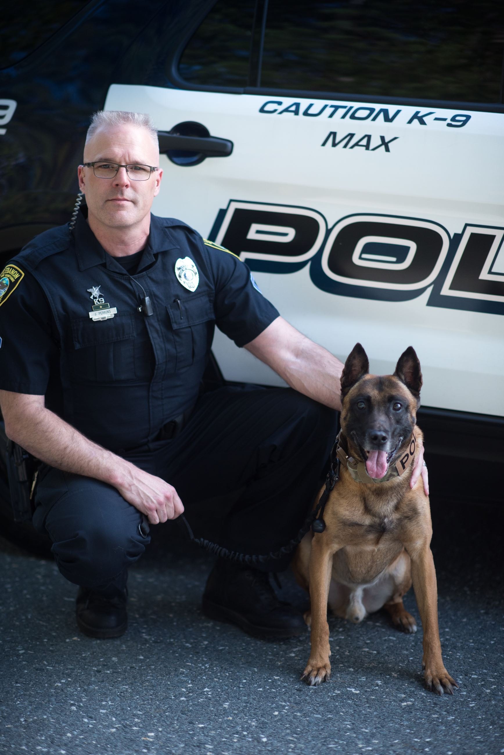 Officer Perkins and K9 Max