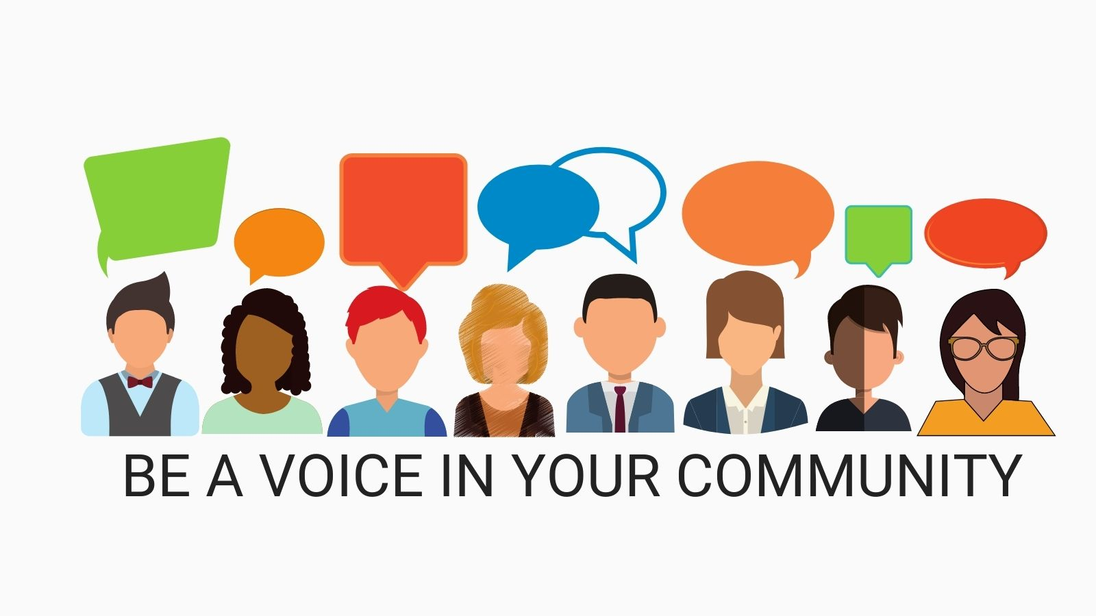 Be A Voice in Your Community banner