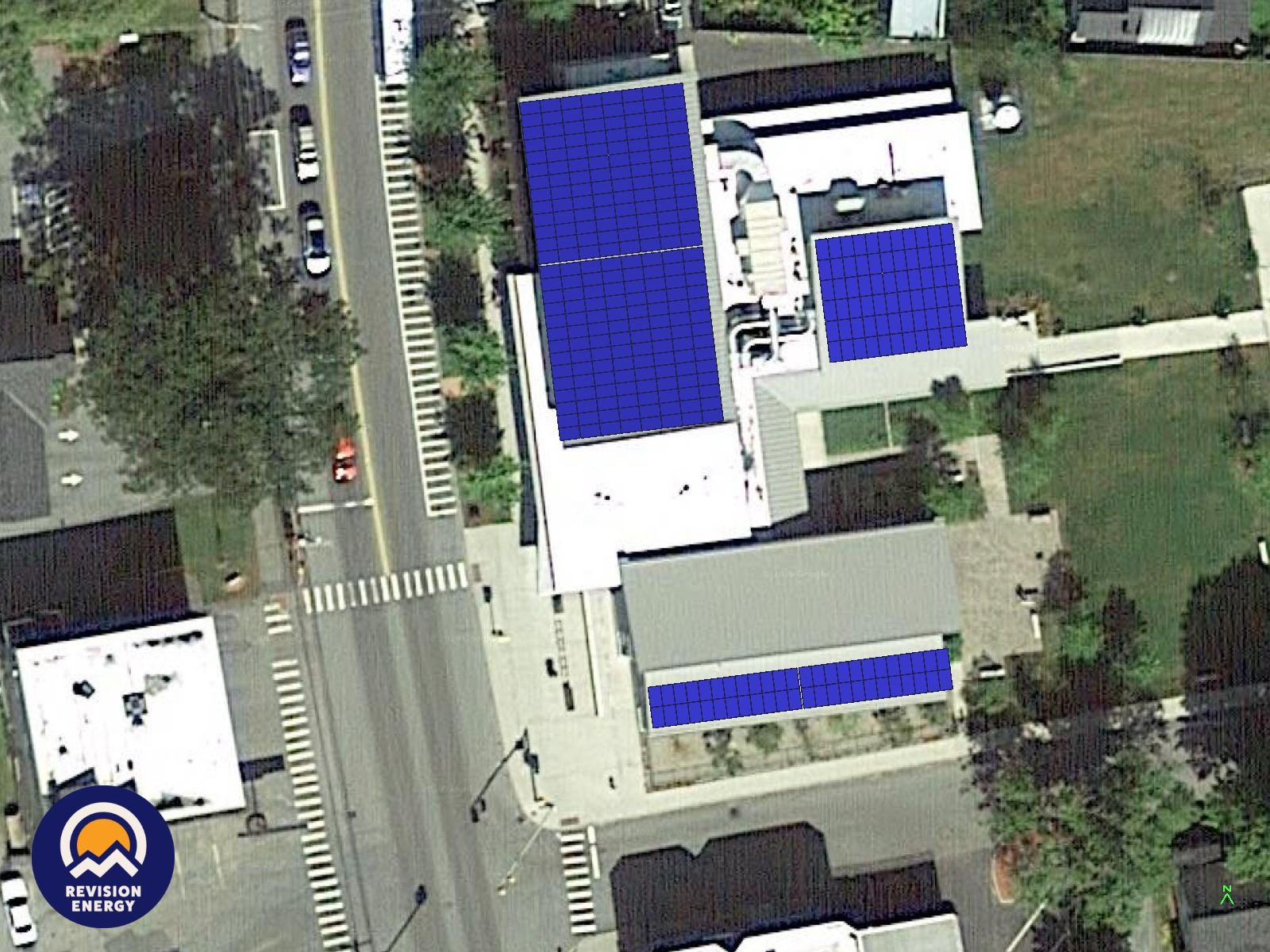 Kilton Public Library roof with solar array depiction Opens in new window
